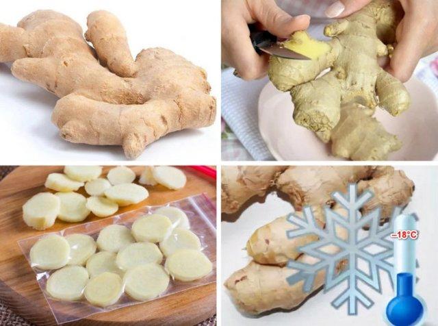 Как хранить тертый имбирь, сколько и где сберегать маринованный и свежий, можно ли заморозить корень впрок в домашних условиях, какой срок держать в холодильнике?