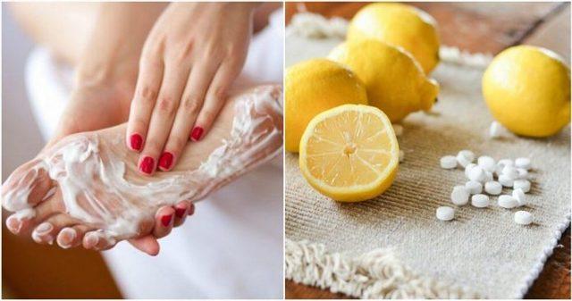 Аспирин и лимон для пяток и лица: польза смеси с соком и ее применение в качестве пилинга для ног, средства от натоптышей и масок для кожи на ночь